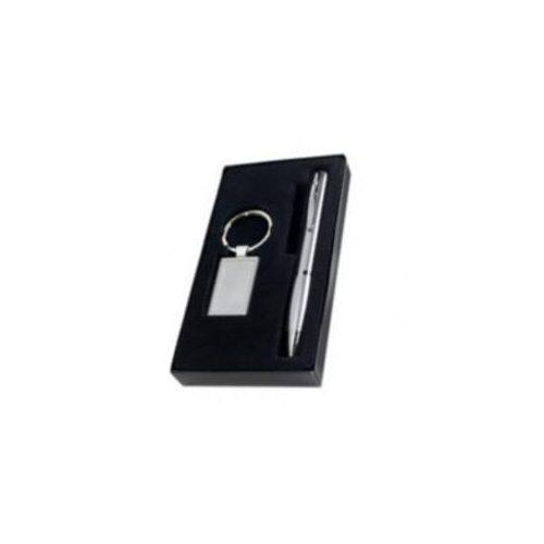 Kulcstartó, toll szett - ezüst