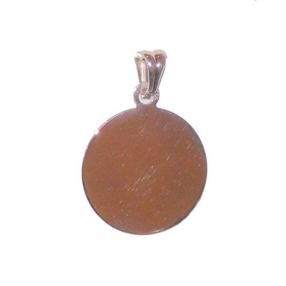 Kör formájú ezüst medál