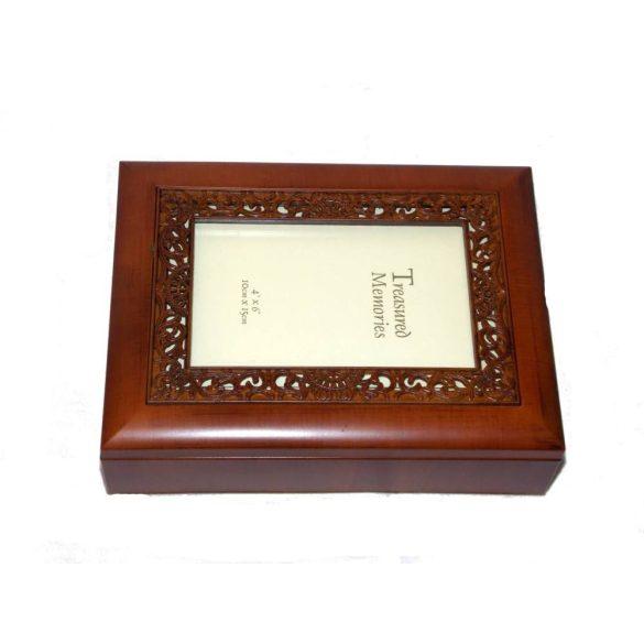 Fényképkeretes ékszertartó doboz