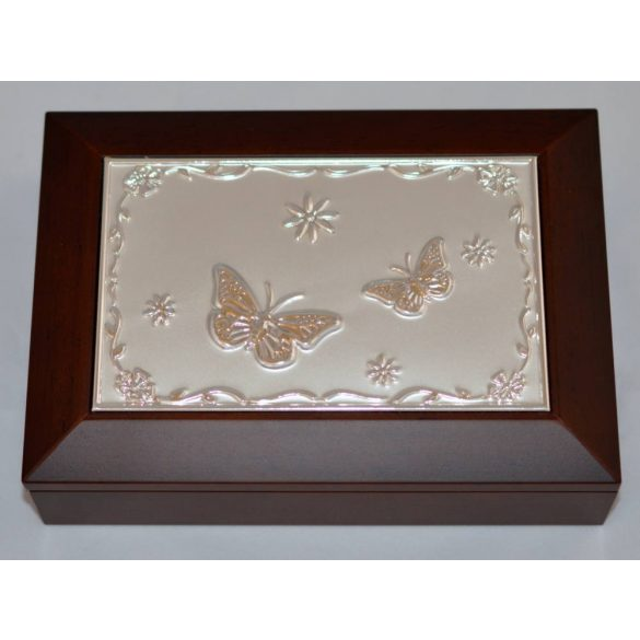 Pillangós, fa ékszertartó doboz