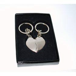 Kettétörhető szív kulcstartó