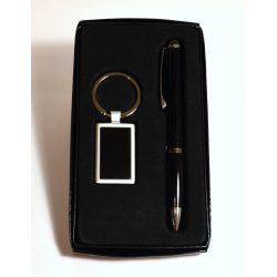 Kulcstartó, toll szett - fekete