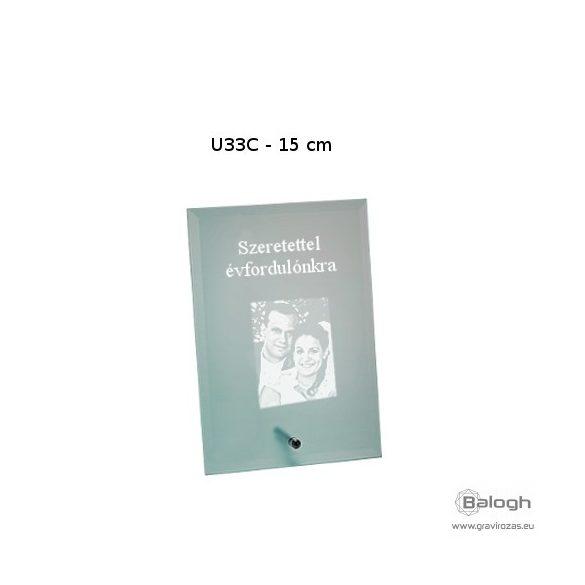 Üveg gravírozás U33C- Gravirozas.eu