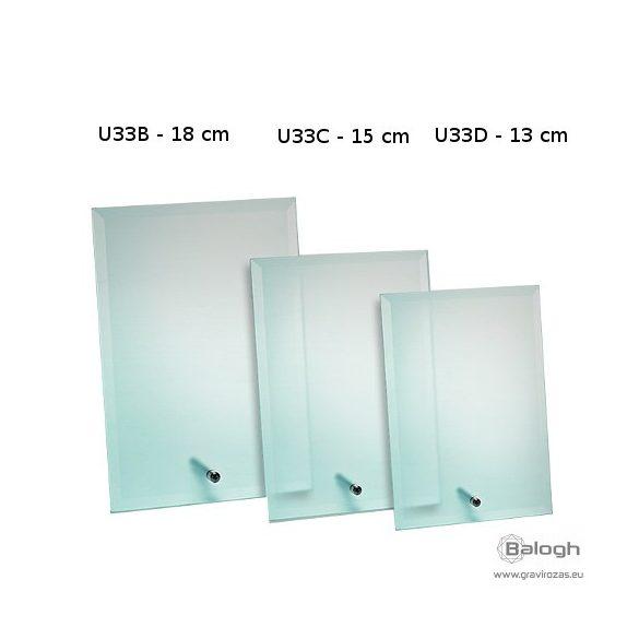 Üveg gravírozás U33D - Gravirozas.eu