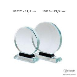 Üveg dísz - 13,5 cm